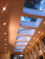 Skylights with Solar remote blinds