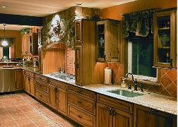 Kitchen Hickory cabinets